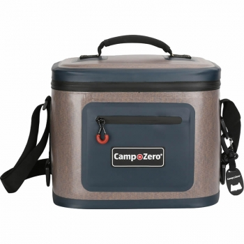 Camp-Zero 12 Can Premium Bag Cooler | Beige And Blue