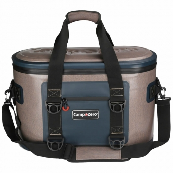 Camp-Zero 40 Can Premium Bag Cooler | Beige And Blue