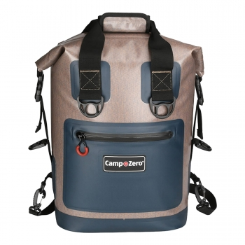 20 Can Back Pack | Carry Cooler | Beige And Blue