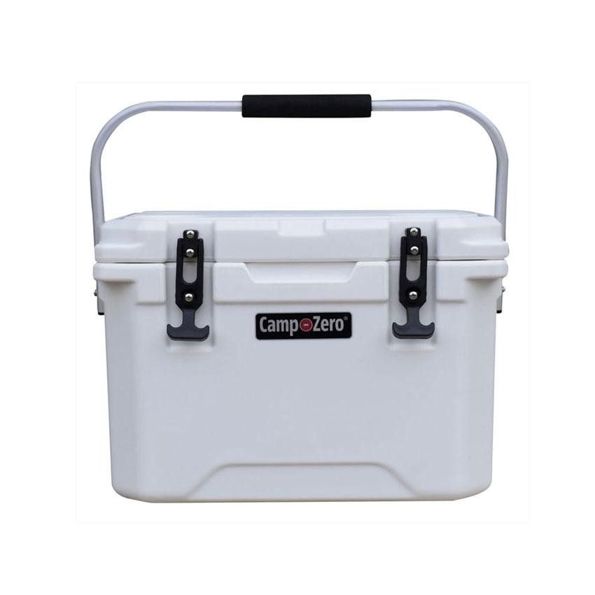 roto molded cooler. 21 quart cooler 20 liters - white. liters capacity roto-molded roto molded cooler