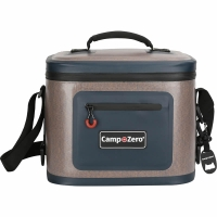 Camp-Zero 12 Can Soft Sided Premium Cooler - Beige/Blue