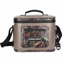 Camp-Zero 12 Can Soft Sided Premium Cooler - Beige/Camo
