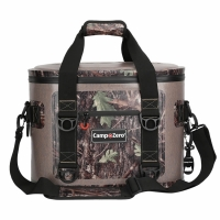 Camp-Zero 20 Can Soft Sided Premium Cooler - Beige/Camo