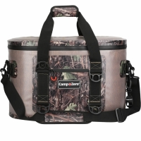 Camp-Zero 40 Can Soft Sided Premium Cooler - Beige/Camo