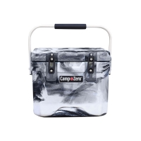 Camp-Zero 10 Premium Cooler | Black And White Swirl